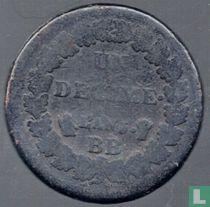 Frankrijk 1 decime AN 5 (BB)