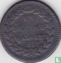 Frankrijk 1 decime AN 5 (B)
