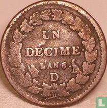 Frankrijk 1 decime AN 5 (D)