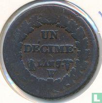 Frankrijk 1 décime AN 7 (W)
