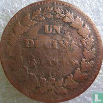 Frankrijk 1 décime AN 9 (G)