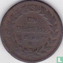 Frankrijk 1 décime AN 8 (W)