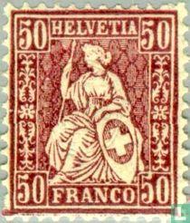 Seated Helvetia