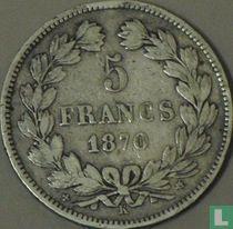 France 5 francs 1870 (K - star - E. A. OUDINE. F.)