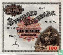 Schweden 100 Kronor 1943