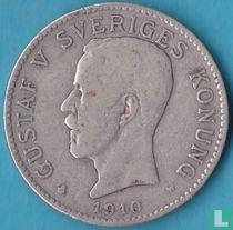 Zweden 2 kronor 1910 (W - ver van het jaartal)