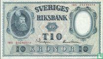 Schweden 10 Kronor 1951