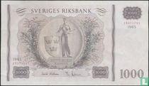 Schweden 1.000 Kronor 1965