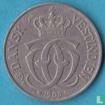 Deens West-Indië 5 cents 1905
