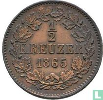 Baden ½ kreuzer 1865