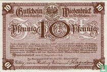 Wiedenbrück 10 Pfennig 1918