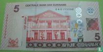Suriname 5 Dollar 2012