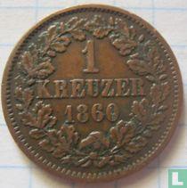 Baden 1 kreuzer 1860
