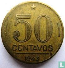 Brazilie 50 centavos 1943 (aluminium-brons)