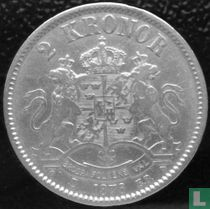 Zweden 2 kronor 1876 (Type 1)