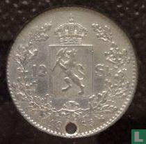 Norwegen 12 Skilling 1865