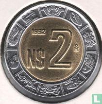 Mexico 2 nuevo pesos 1992
