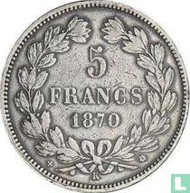 France 5 francs 1870 (K - star - A. E. OUDINE. F.)