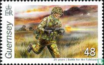 25-jarige herdenking van de Falkland Eilandenoorlog