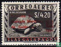 Zegels van Galapagos met opdruk