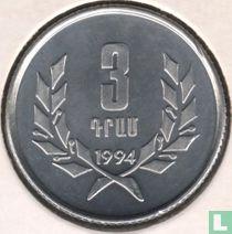 Armenien 3 Dram 1994