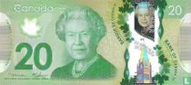 Canada 20 dollars 2012