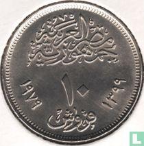 "Ägypten 10 Piastres 1979 (Jahr 1399) ""25th Anniversary of Abbasia Mint"""