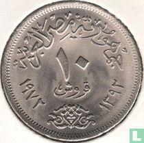 Ägypten 10 Piastres 1972 (Jahr 1392)