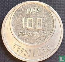 Tunesië 100 francs 1957 (jaar 1376)
