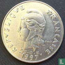 Frans-Polynesië 20 francs 1997