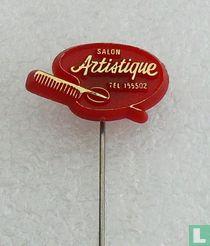 Salon Artistique tel. 155502 [goud op rood]