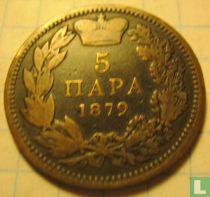 Servië 5 para 1879