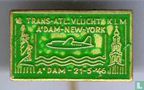 1e Trans-Atl. vlucht KLM A'dam-New York A'dam - 21-5-'46 [groen]