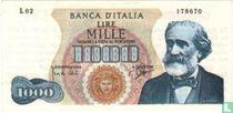 Italië 1.000 Lire (Senator Sigaren)
