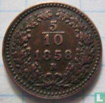 Austria 5/10 kreuzer 1858 (B)