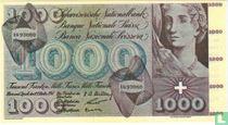 Zwitserland 1.000 Francs (Senator Sigaren)