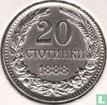 Bulgarije 20 stotinki 1888
