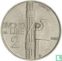 Italien 2 Lire 1923