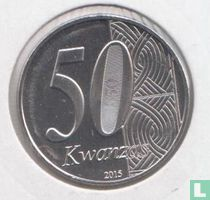 "Angol 50 kwanzas 2015 ""40th Anniversary of Independence"""