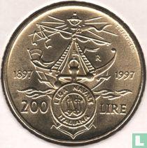 "Italy 200 lire 1997 ""Centennial - Italian Naval League"""
