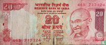 India 20 Rupees 2007