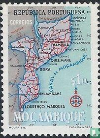 Kaart van Mozambique