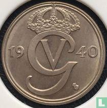 Schweden 50 Öre 1940 (G - runder Boden)