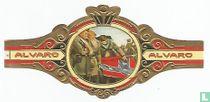 Veteranos desconsolados del General Lee arrollando su bandera