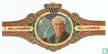 Edison con su primera lámpara eléctrica