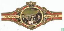 Lincoln en conferencia con su Consejo de Ministros