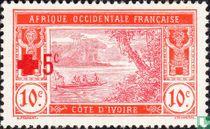 Ébrié-Lagune, mit Aufdruck