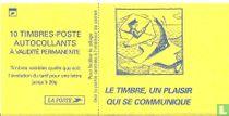 Carnet Marianne stempel blij dat communiceert