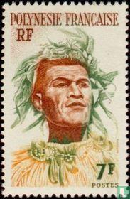 Tahitian met hoofdtooi