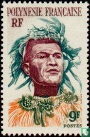 Tahitiaan met hoofdtooi